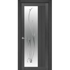 Межкомнатная дверь полипропилен 16XO-ветка ЗЕРКАЛО