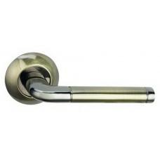 """Ручка дверная """"A-34-10 графит/антик.бронза LINDO"""""""