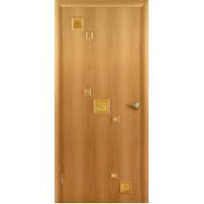 """Ламинированная межкомнатная дверь """"Трио"""" со стеклом"""