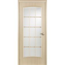 """Ламинированная межкомнатная дверь """"Кантри"""" со стеклом"""