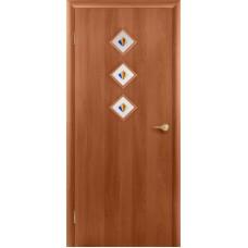 """Ламинированная межкомнатная дверь """"Капель 3"""" со стеклом"""