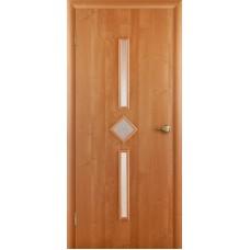 """Ламинированная межкомнатная дверь """"Кристалл"""" со стеклом"""