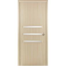 """Ламинированная межкомнатная дверь """"Санторини 3"""" со стеклом"""