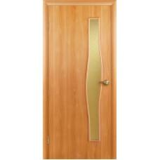 """Ламинированная межкомнатная дверь """"Твист"""" со стеклом"""