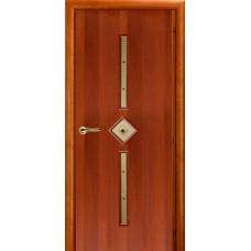 Ламинированная межкомнатная дверь ДО 012 фьюзинг Карамель