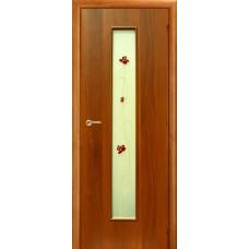 Ламинированная межкомнатная дверь ДО 020AR фьюзинг Роза