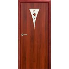 Ламинированная межкомнатная дверь ДО 006r фьюзинг Роза