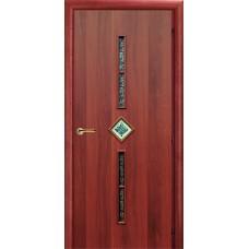 Ламинированная межкомнатная дверь ДО 012s фьюзинг Самоцветы