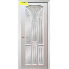 """Межкомнатная дверь Экошпон """"Лотос 4"""" со стеклом"""