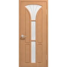 """Межкомнатная дверь Экошпон """"Лотос 3"""" со стеклом"""