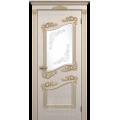 """Межкомнатная дверь ПВХ-люкс """"Афродита со стеклом"""""""
