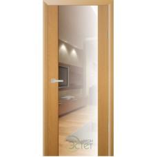 Межкомнатная дверь Экошпон Стиль 4 с зеркалом