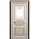 """Межкомнатная дверь ПВХ-люкс """"Борокко со стеклом"""""""