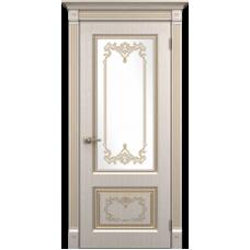 """Межкомнатная дверь ПВХ-люкс """"Верокко со стеклом"""""""