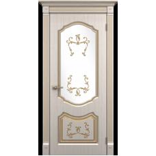 """Межкомнатная дверь ПВХ-люкс """"Версаль со стеклом"""""""