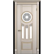 """Межкомнатная дверь ПВХ-люкс """"Зевс со стеклом"""""""