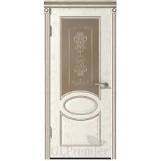 """Межкомнатная дверь ПВХ """"GLPremier 12"""" со стеклом"""