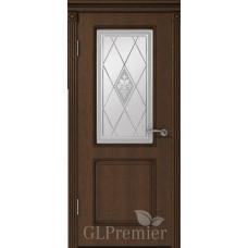 """Межкомнатная дверь ПВХ """"GLPremier 22"""" со стеклом"""