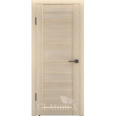 Царговая межкомнатная дверь экошпон GLAtum Х6 глухая