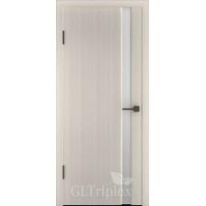 """Межкомнатная дверь ПВХ """"GL Triplex 1"""" со стеклом"""