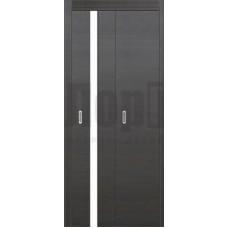 Полипропилен межкомнатная дверь ДГ книжка Стиль1, глухая со стеклом