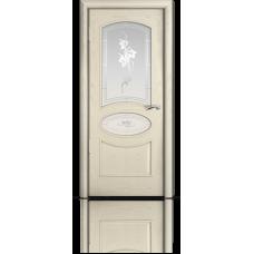 Межкомнатная дверь шпонированная Рим со стеклом