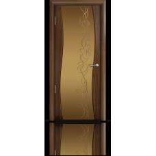 Межкомнатная дверь шпонированная Омега Фбр со стеклом
