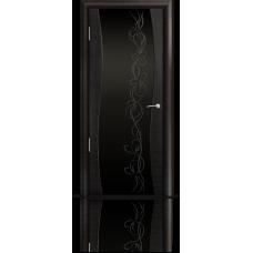 Межкомнатная дверь шпонированная Омега Фч со стеклом