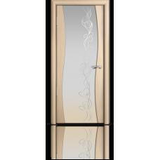 Межкомнатная дверь шпонированная Омега Нб со стеклом