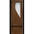 Межкомнатная дверь шпонированная Яна со стеклом