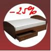 Кровать с ящиками со скидкой 25%