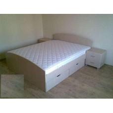 Двуспальная кровать с ящиками и тумбами