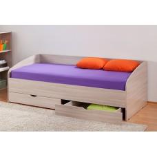 Кровать с прямой стенкой и ящиками