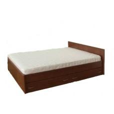 Кровать с кромкой меламин и 2 ящиками (односпальная и двуспальная)