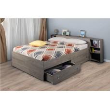 Двуспальная кровать двумя ящиками, выдвижными тумбами