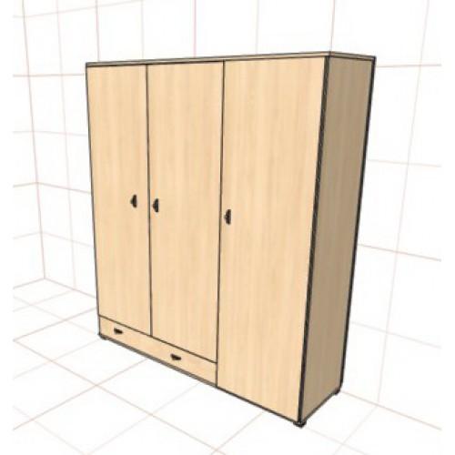Шкаф распашной трехстворчатый с нижним ящиком купить недорог.
