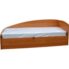 Кровать с фигурной боковой стенкой (односпальная)