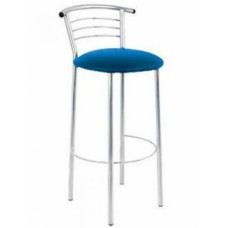 Барный стул Марко с каркасом зеркальный хром
