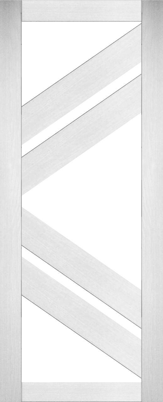 Царговые межкомнатные двери белые