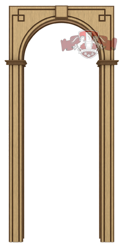 Арка ВФД полукруглая для обрамления проема