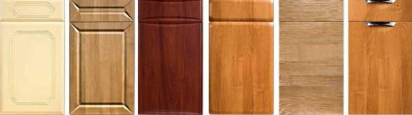 Пример нескольких мебельных фасадов из пленочного МДФ