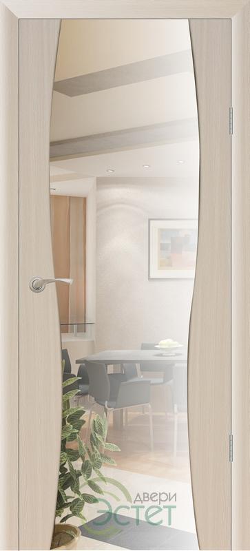 Межкомнатная дверь Экошпон Сириус 3 с зеркалом