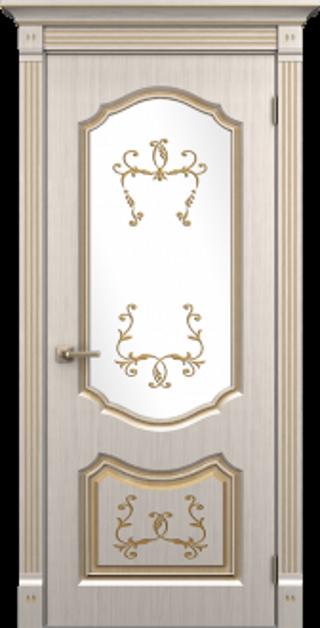 """Межкомнатная дверь из полипропилена """"Версаль со стеклом"""""""