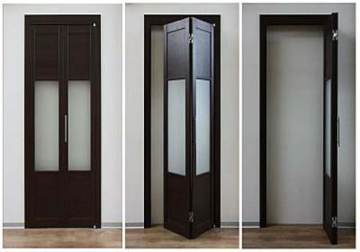 Складная дверь книжка (гармошка) занимает меньше места в квартире
