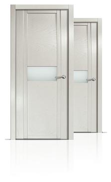 Межкомнатная дверь шпонированная Qdo Hb со стеклом