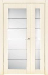 Двустворчатая распашная дверь двойная неравнопольная