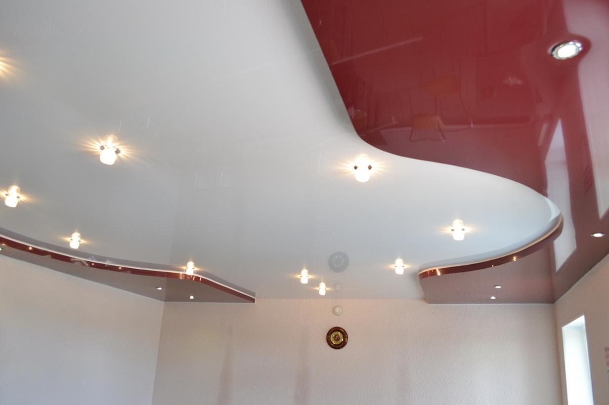 Двухуровневый натяжной потолок купить недорого в Челябинске