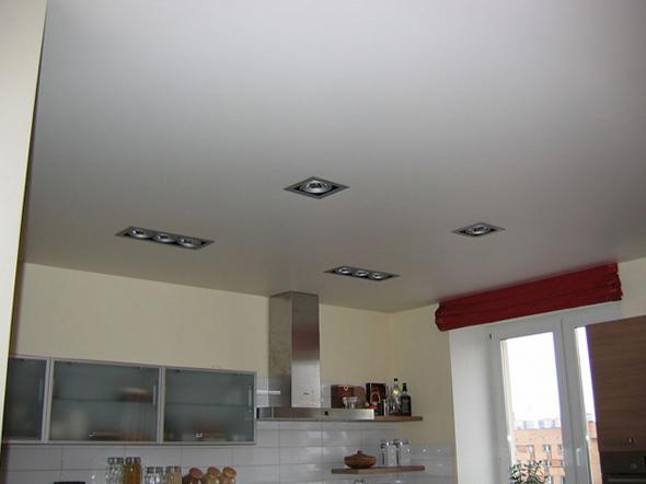 Матовый натяжной потолок в кухне купить в Челябинске недорого
