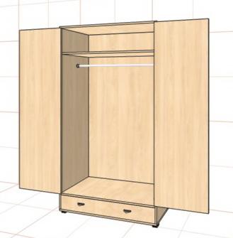 Шкаф распашной двухстворчатый недорого